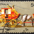 Postage stamp Australia 1972 Coach Transport, Pioneer Life — Stock Photo