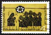 Postage stamp Australia 1966 Adoration of the Shepherds, Christm — Stock Photo
