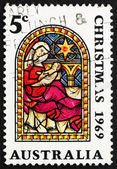 Postage stamp Australia 1969 Nativity, Christmas — Stock Photo