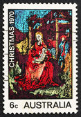 Postage stamp Australia 1970 Madona and Child by William Beasley — Stock Photo