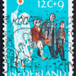 Postage stamp Netherlands 1959 Children Crossing Street — Stock Photo #12230642