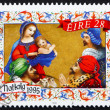 Postage stamp Ireland 1995 Adoration of the Magi, Christmas - Stock Photo