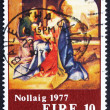 Постер, плакат: Postage stamp Ireland 1977 Holy Family by Giorgione Christmas