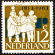 Stock Photo: Postage stamp Netherlands 1963 Dutch Leaders