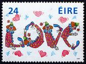 Postage stamp Ireland 1988 Love, Clowns and Hearts, Valentine — Stock Photo