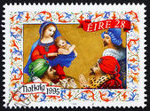 Postage stamp Ireland 1995 Adoration of the Magi, Christmas — Stock Photo
