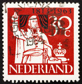 Postage stamp Netherlands 1963 Prince William of Orange — Foto Stock