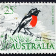 Postage stamp Australia 1966 Scarlet Robin, Passerine Bird - Stock Photo