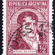 Stock Photo: Postage stamp Argentin1935 Manuel Belgrano