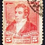 Постер, плакат: Postage stamp Argentina 1892 Bernardino Rivadavia President