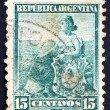Postage stamp Argentina 1901 Liberty Seated, Allegory — Stock Photo