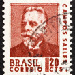 Stock Photo: Postage stamp Brazil 1967 Campos Sales, President