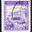 Postage stamp Chile 1938 Mining, Industry — Foto Stock #12255556