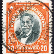 Postage stamp Chile 1911 Manuel Bulnes Prieto, President of Chil — Stock Photo
