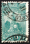 Postage stamp Brazil 1929 Monument to de Gusmao, Santos — Stock Photo