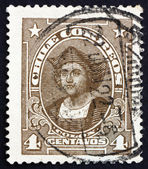 Postage stamp Chile 1918 Christopher Columbus, Explorer — Stock Photo