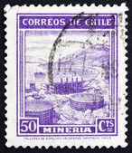 切手チリ 1938年マイニング業界 — ストック写真