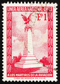 Postage stamp Chile 1965 Aviators� Monument, Santiago de Chile — Foto Stock