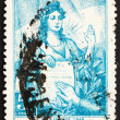 Stock Photo: Postage stamp Argentin1946 Liberty and Presidential Oath