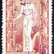 Postage stamp Argentina 1947 Justice, Allegory - Stock Photo