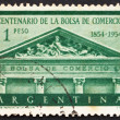 Stock Photo: Postage stamp Argentin1954 Buenos Aires Stock Exchange