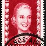 Постер, плакат: Postage stamp Argentina 1953 Eva Peron Evita