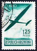 Postage stamp Argentina 1940 Plane in Flight — Stock Photo