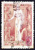 Postage stamp Argentina 1947 Justice, Allegory — Stock Photo