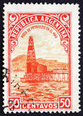 Postage stamp Argentina 1936 Oil Well, Petroleum — Stock Photo