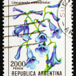 Postage stamp Argentin1982 Blue Jacaranda, sub-tropical Tree — Foto de stock #12300898
