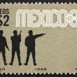 Postage stamp Mexico 1968 Pistol Shooting, 19th Olympics, Mexico — Stock Photo