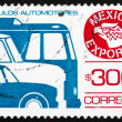 Stock Photo: Postage stamp Mexico 1988 Motor Vehicle, MexicExport