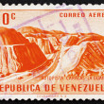 Postage stamp Venezuela 1956 Caracas � La Guaira Highway — Stock Photo #12302420