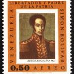 Постер, плакат: Postage stamp Venezuela 1966 Simon Bolivar Portrait