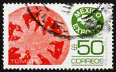 Francobollo pomodori di 1987 messico, esportazione messicano — Foto Stock