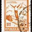 Stock Photo: Postage stamp Argentin1971 Ski Jumper