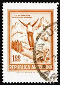 Frimärke argentina 1971 backhoppare — Stockfoto
