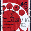 Постер, плакат: Postage stamp Netherlands 1962 Wheat Emblem and Globe