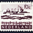 Postage stamp Netherlands 1963 Dredging in Delta — Stock Photo #12387861