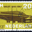 ストック写真: Postage stamp Netherlands 1967 Delft University
