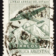 Postage stamp Argentina 1946 Plane over the Andes — Stock Photo