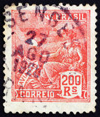 Postage stamp Brazil 1922 Allegory of Aviation — Stock Photo
