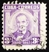 邮票古巴 1954 jose de la luz 卡瓦列罗、 学者 — 图库照片