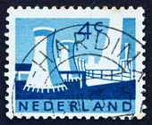Postage stamp Netherlands 1963 Cooling Towers — Stock Photo