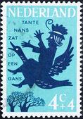 Selos selos holanda 1963 tia lucy, rimas de berçário — Fotografia Stock