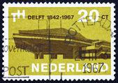 Postage stamp Netherlands 1967 Delft University — Stock Photo