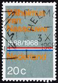 Postage stamp Netherlands 1968 National Anthem — Stock Photo