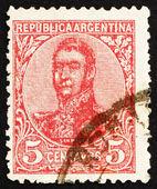 Postage stamp Argentina 1908 Jose de San Martin, General — Stock Photo