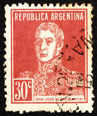 Postage stamp Argentina 1923 Jose de San Martin, General — Stock Photo