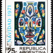Postage stamp Argentina 1971 Christ in Majesty, Christmas — Zdjęcie stockowe